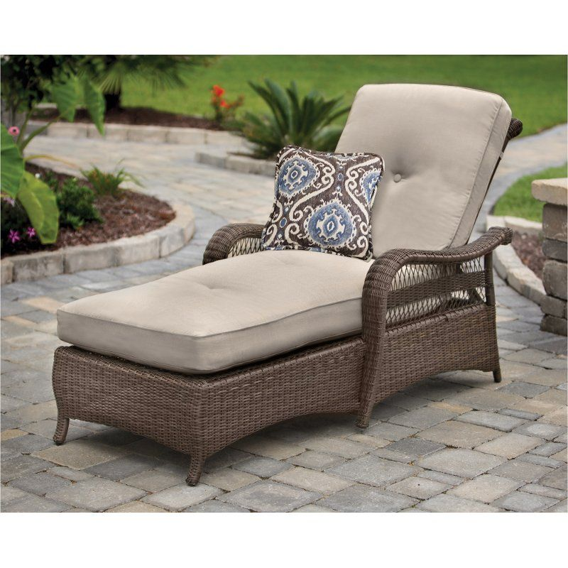 Wicker Outdoor Patio Chaise Lounge, Patio Furniture Chaise Lounge