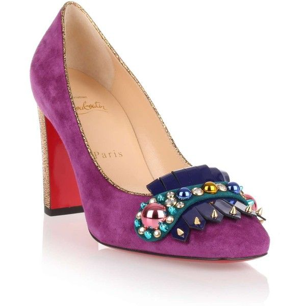 louboutin Loafer Purple