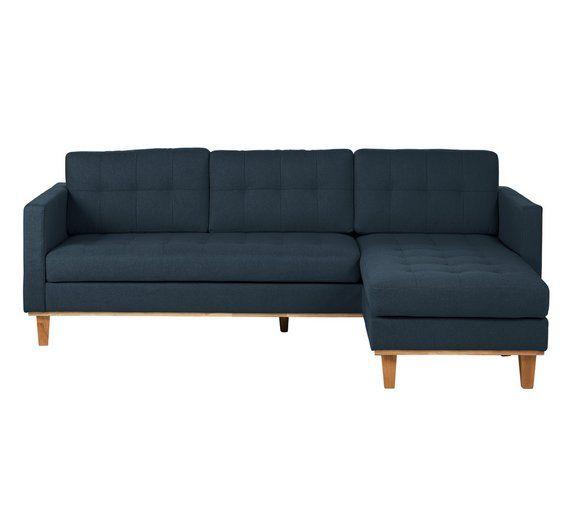 Buy Hygena Aliso Reversible Corner Chaise Sofa - Navy at Argos.co.uk ...
