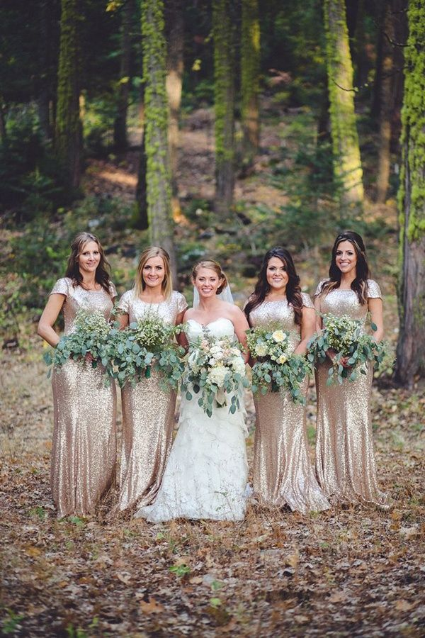 Rose gold bridesmaids dresses: a unique bridal party look | Rose ...