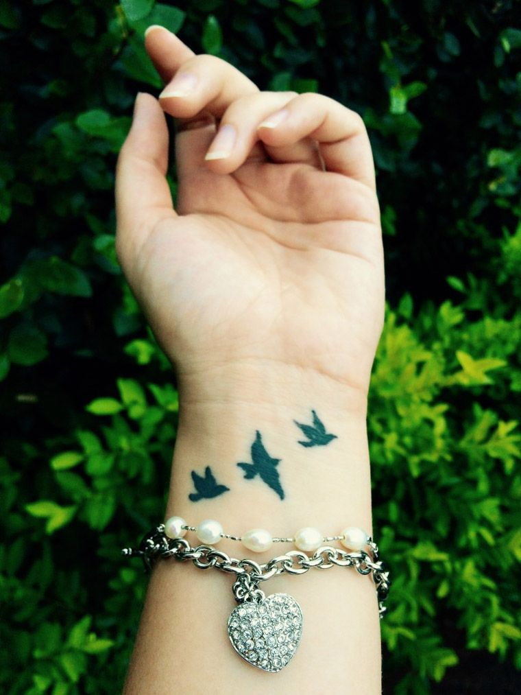 Our User Mayara Uploaded These Cute Little Birds Wrist Tattoo Bird Tattoo Wrist Little Bird Tattoos Birds Tattoo