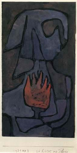 Paul Klee 'She Guarded the Flame' 1939 Chalk and tempera 17 x 32 cm