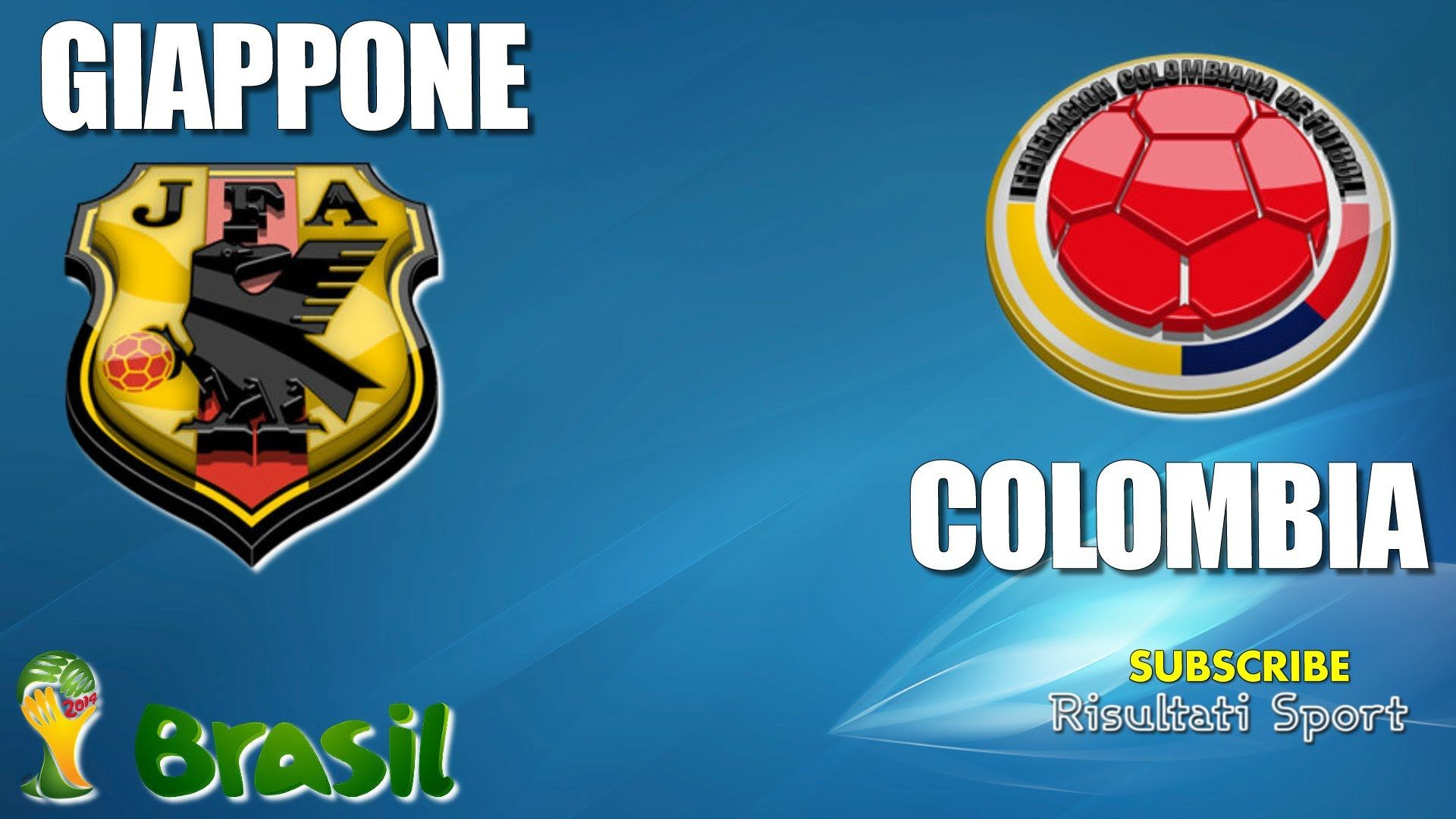 GIAPPONE - COLOMBIA - Mondiali 2014 - 24-6-2014 - Diretta live in streaming