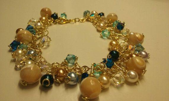 Check out this item in my Etsy shop https://www.etsy.com/es/listing/262592118/beaded-bracelet-swavorski-bracelet-gifts