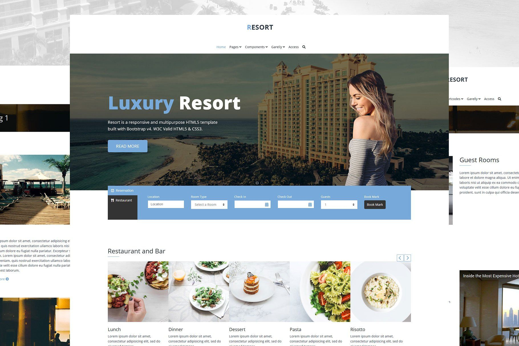 Agency HTML Website Template Website template, Html