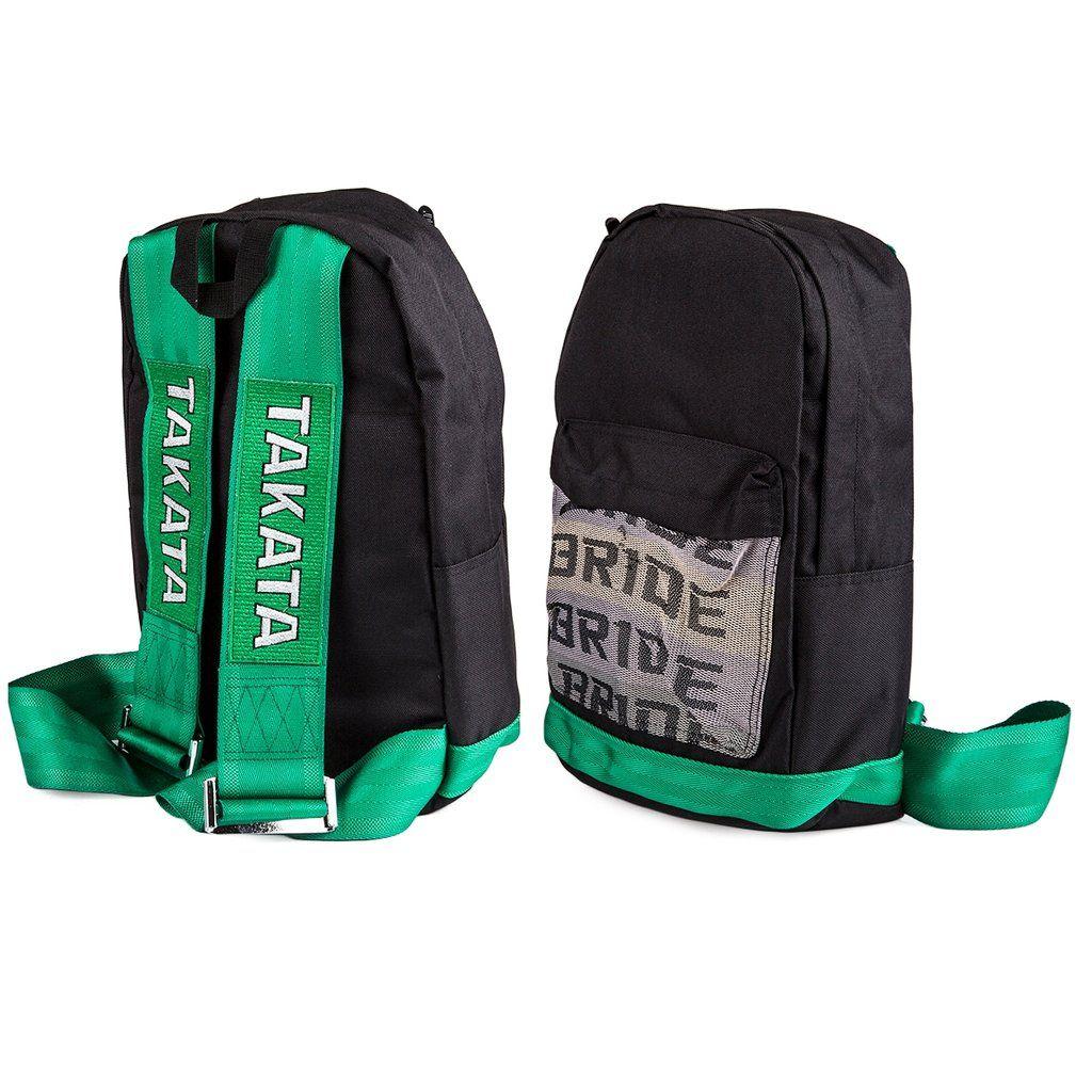 Bride Takata Backpack All Green Leather Backpacks Racing Harness