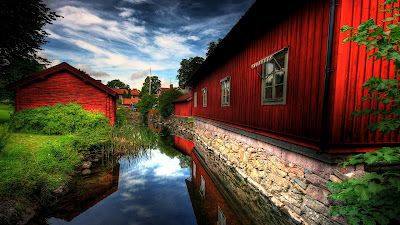 Full Hd Nature Wallpapers Free Download For Laptop Pc Desktop Background Red Houses Hd Nature Wallpapers Red House