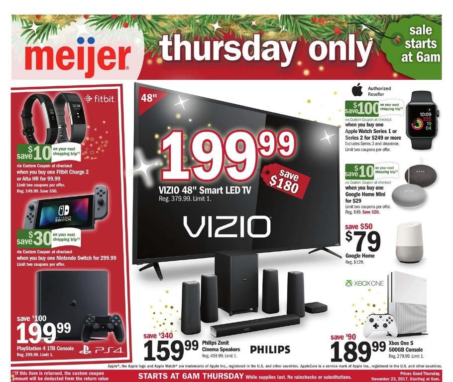 Meijer Thanksgiving 2017 Ad Scan, Deals and Sales Black