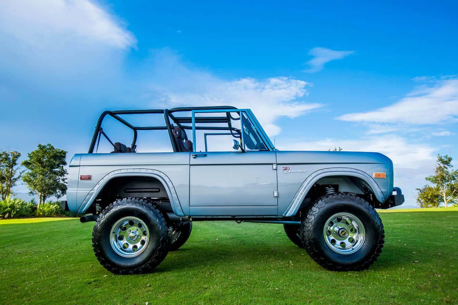 Restored 1974 Brittany Blue Early Bronco Velocity