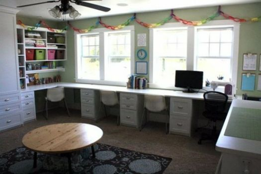 Home Office with Multiple Desks