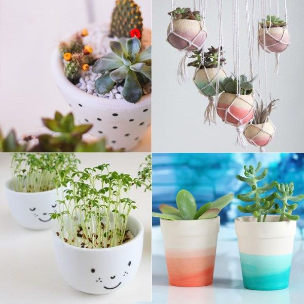DIY: personalizando vasinhos de plantas — Depois Dos Quinze
