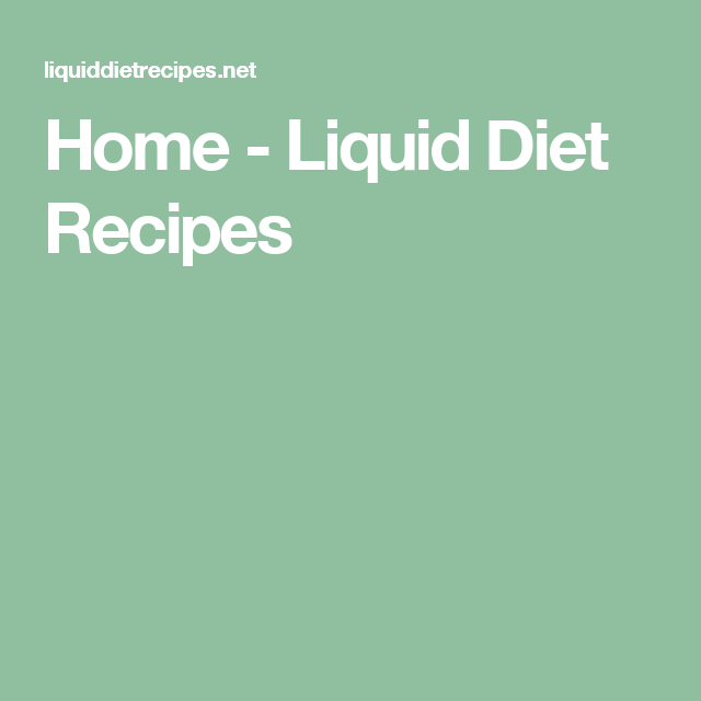 liquid diet plan for weight loss at home