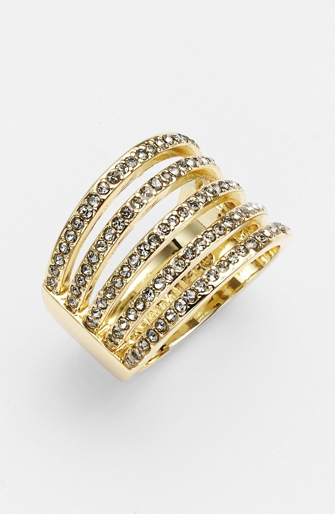 Obsessed with this sparkly cocktail stack ring.