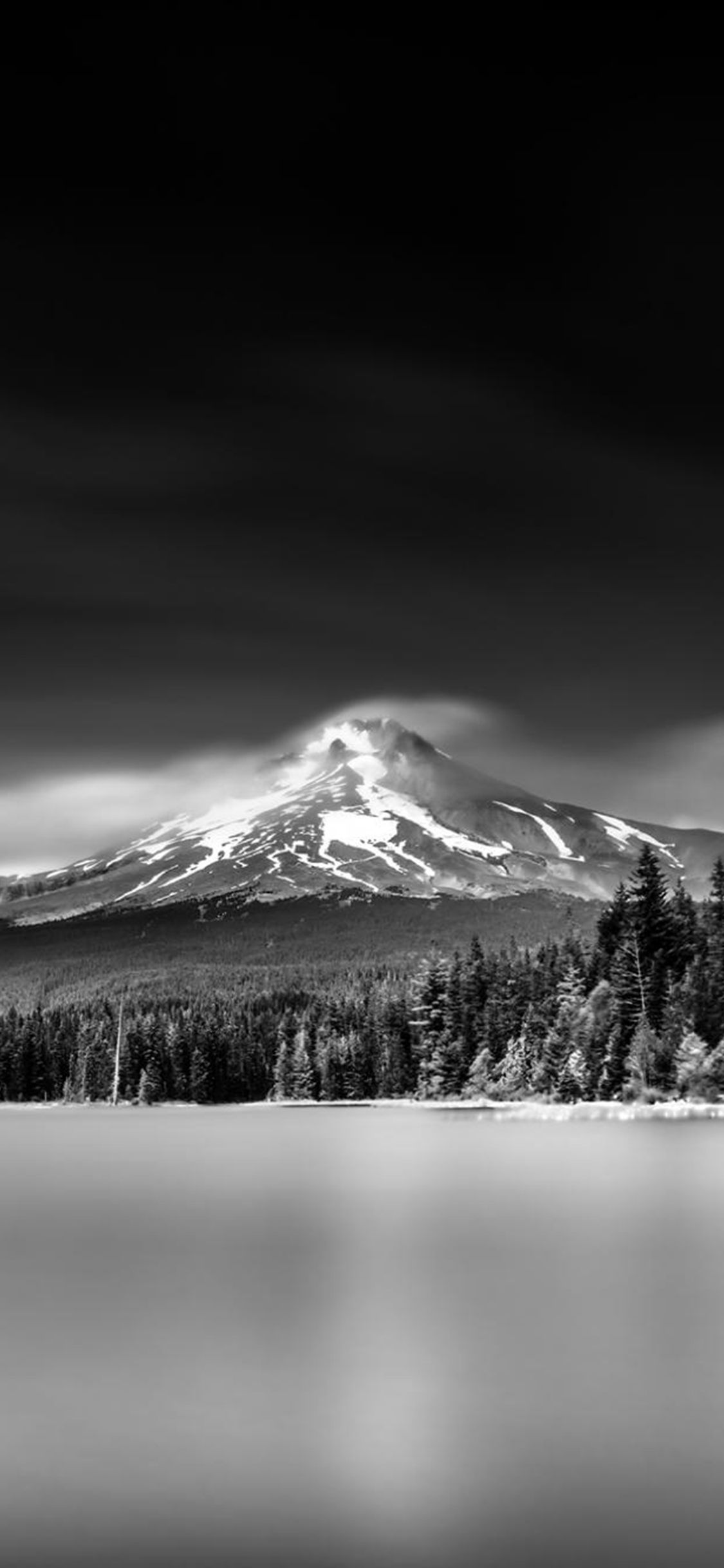 Nature Snowy Mountains Lake Grayscale Landscape Iphone X Wallpaper Landscape Wallpaper Landscape Snowy Mountains