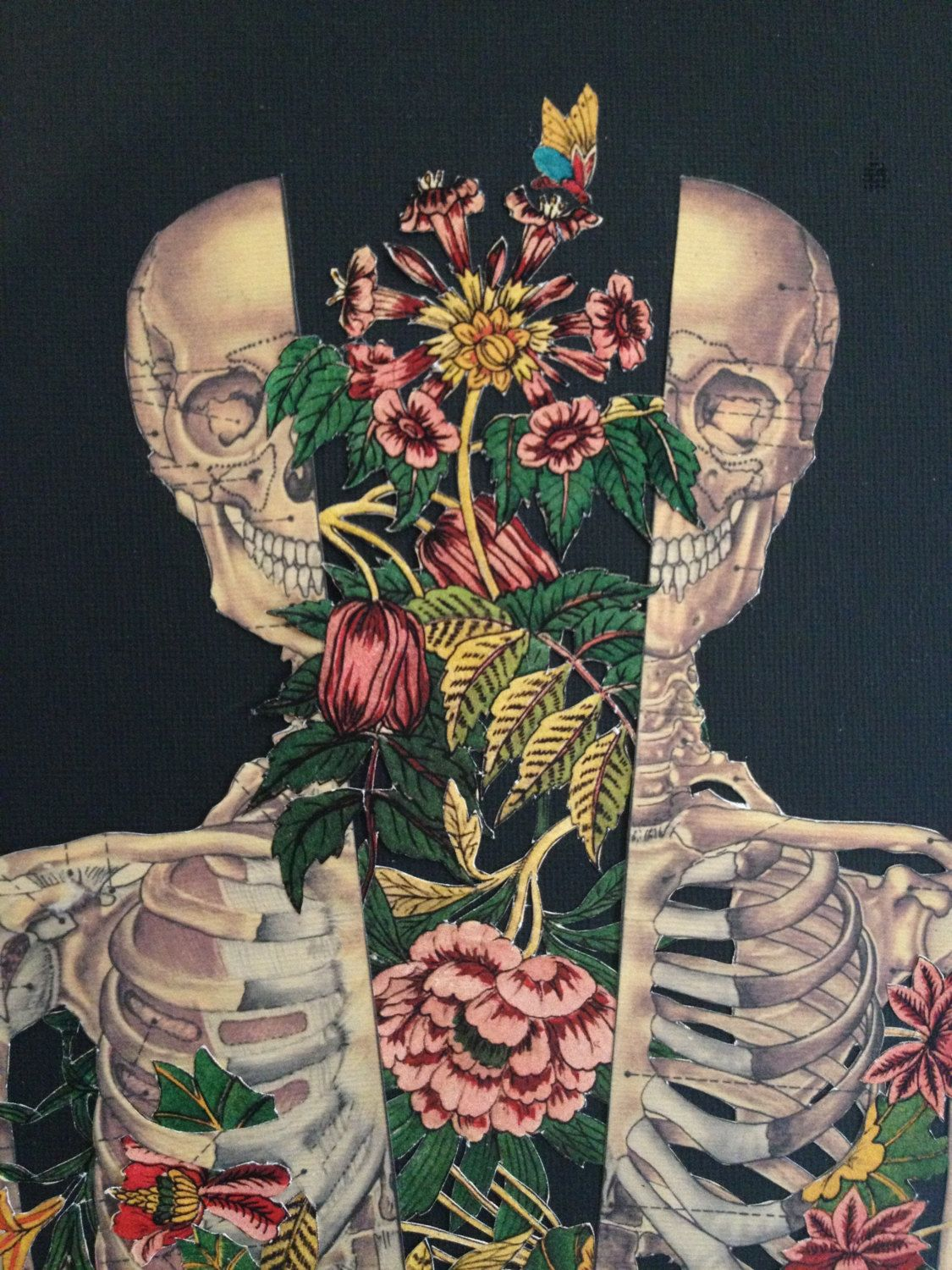 growth within anatomical anatomy collage art by di Bedelgeuse ossein