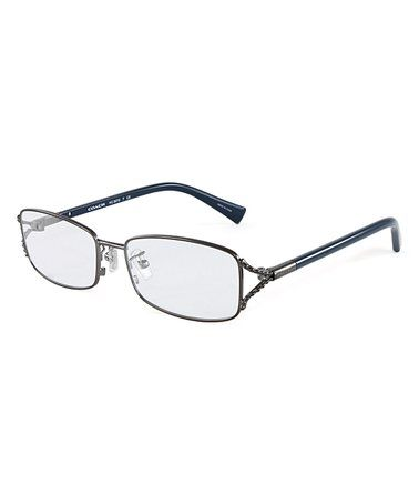 6dfdf586f833 Love this Satin   Dark Silver Square Eyeglasses on  zulily!  zulilyfinds
