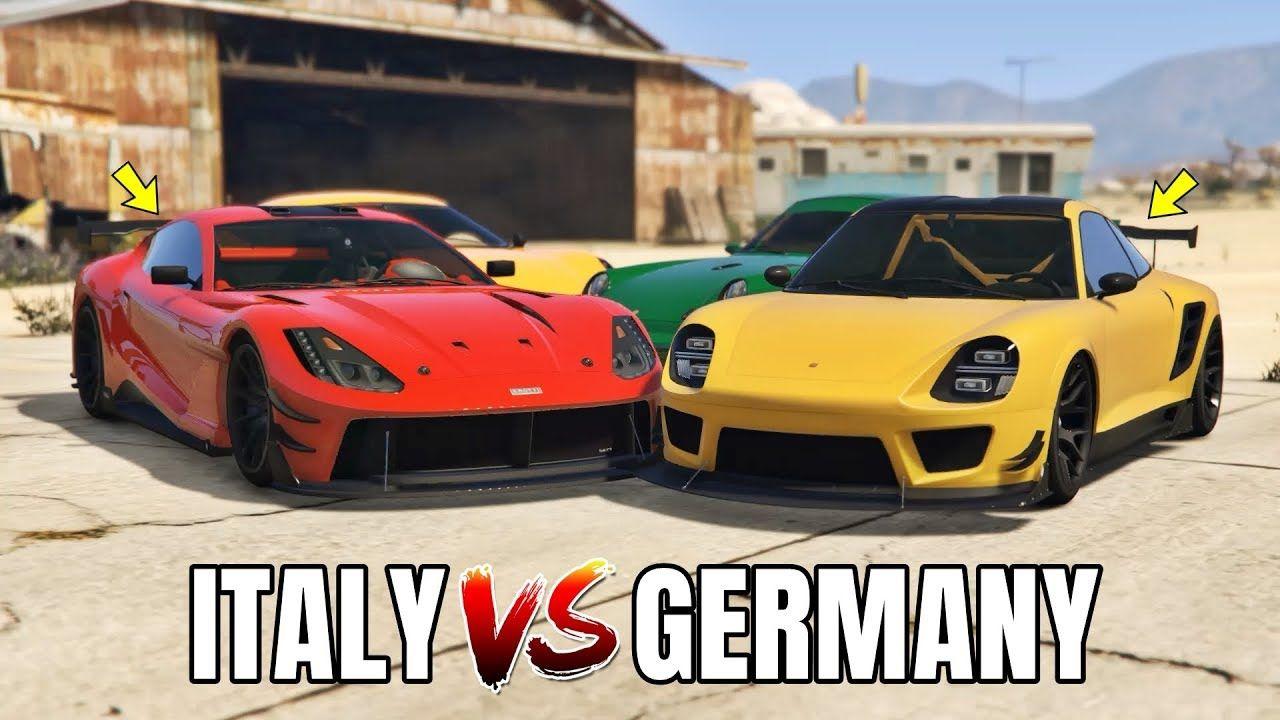 GTA V Online ITALY SPORT CARS VS GERMANY SPORT CARS