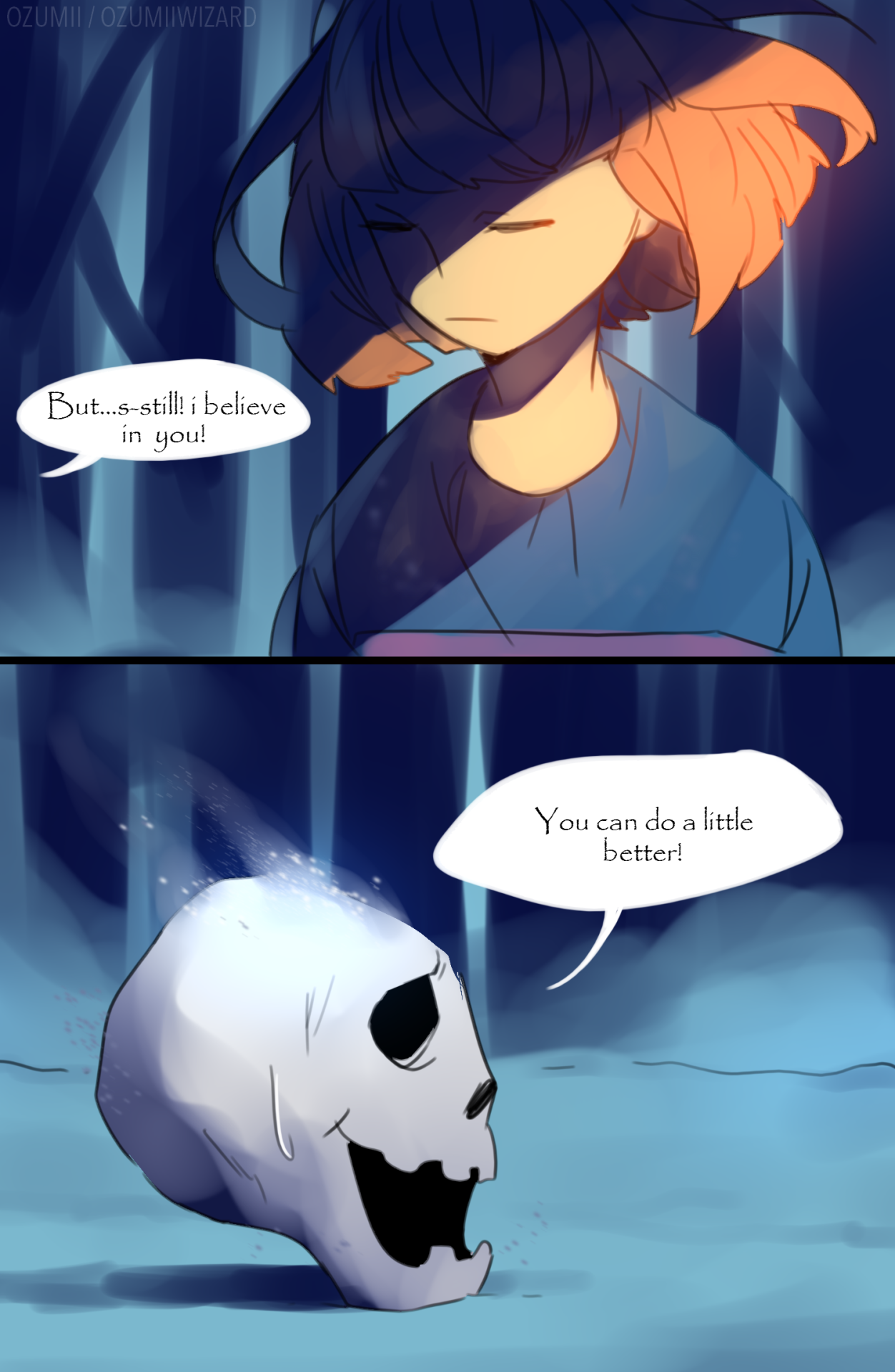 I don't think I could ever handle killing Papyrus  I love