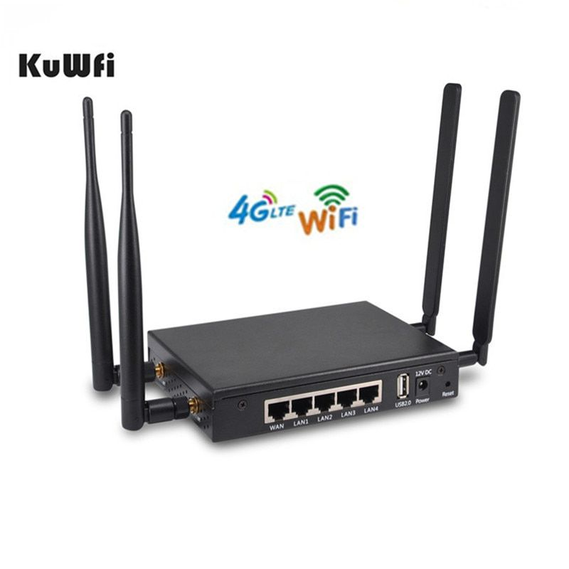KuWFi 4G LTE Wireless Router OpenWRT 300Mbps Wireless Wifi Router