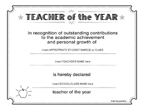 Education world teacher of the year certificate template avid education world teacher of the year certificate template yelopaper Image collections