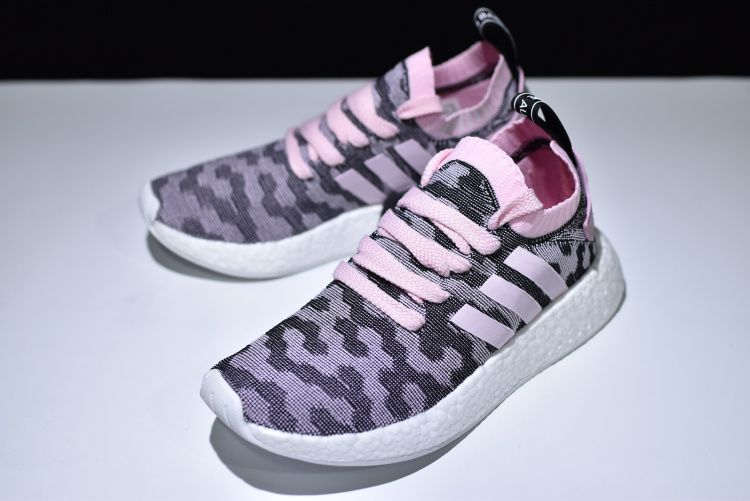 """54c1cde3dda52 Men s and Women s 2018 adidas NMD R2 """"Pink Black"""" BY9521"""