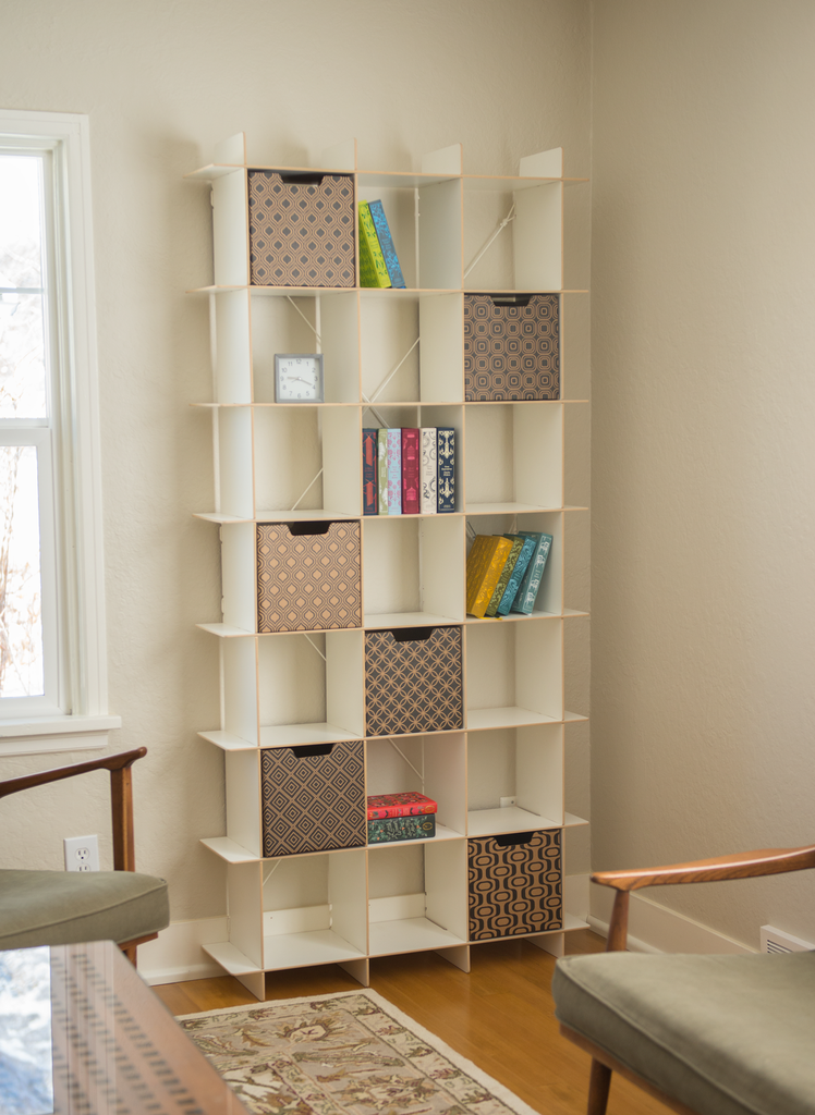 Modern 21 Cube White Tall Bookcase Tall White Bookcase By