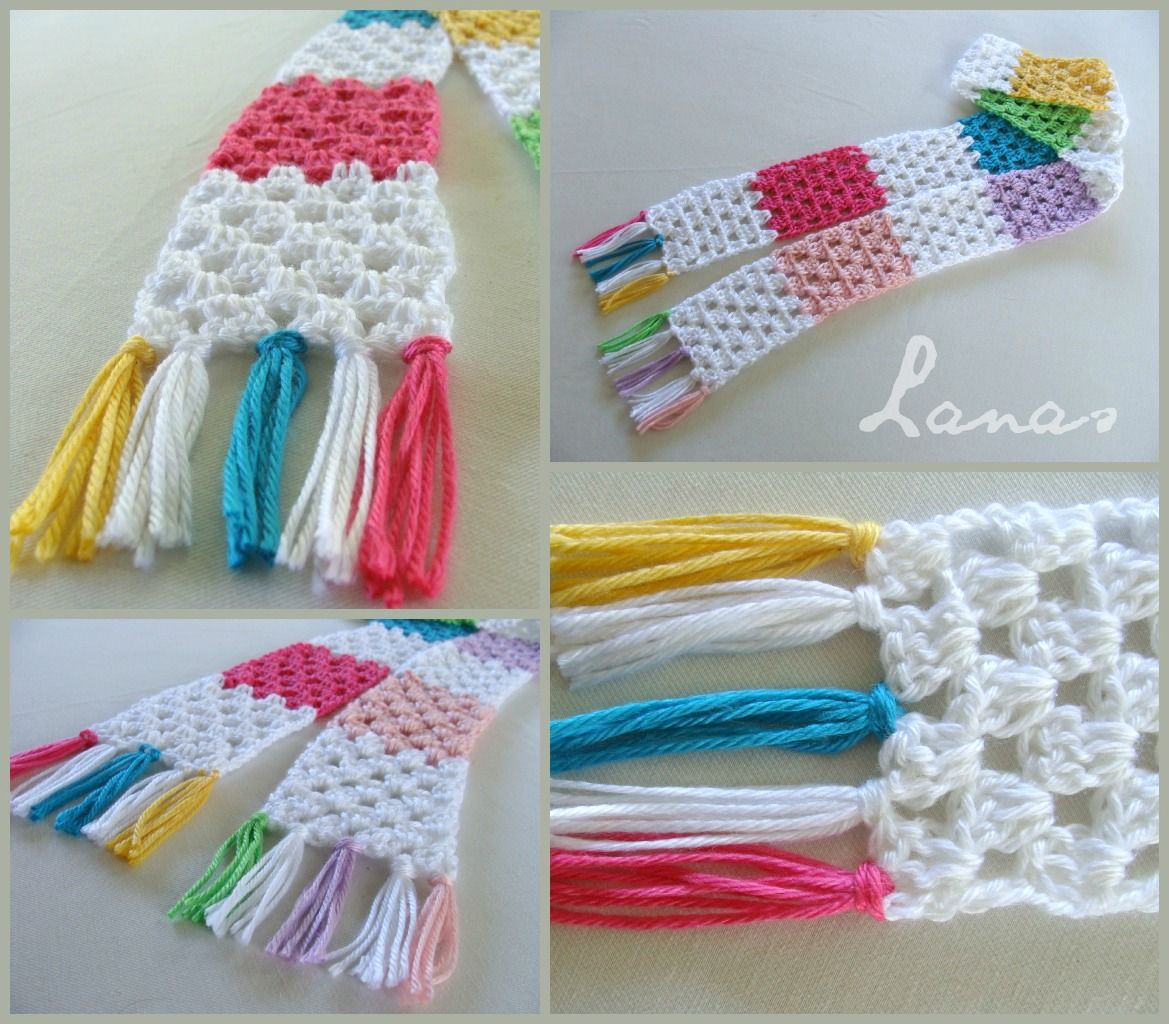 Granny stitch scarf in pastel colours - perfect for a child or teen ...