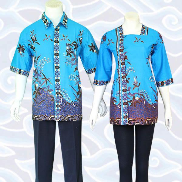 Baju batik sarimbit bahan katun Batik modern warna dasar hitam