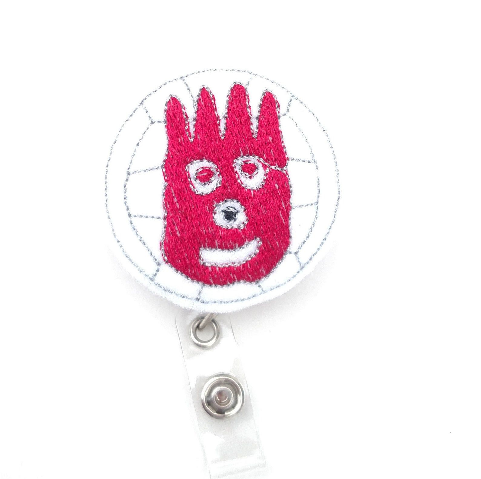 Wilson Ball Id Badge Holder Castaway Id Badge Holder Etsy In 2020 Id Badge Holders Badge Holders Id Badge