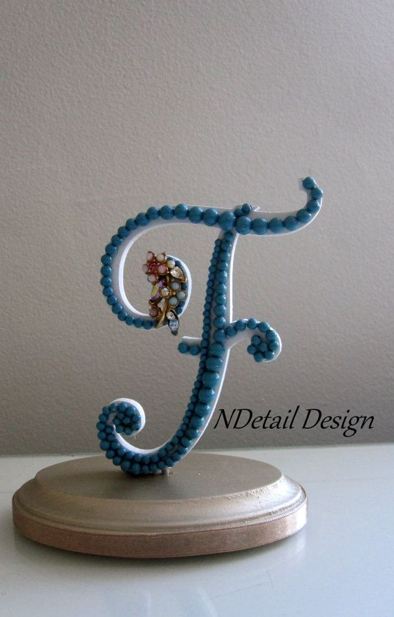 teal wedding cake toppers wedding cake topper monogram letter f quot ready to purchase 20789