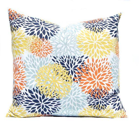 euro sham sofa pillow covers orange