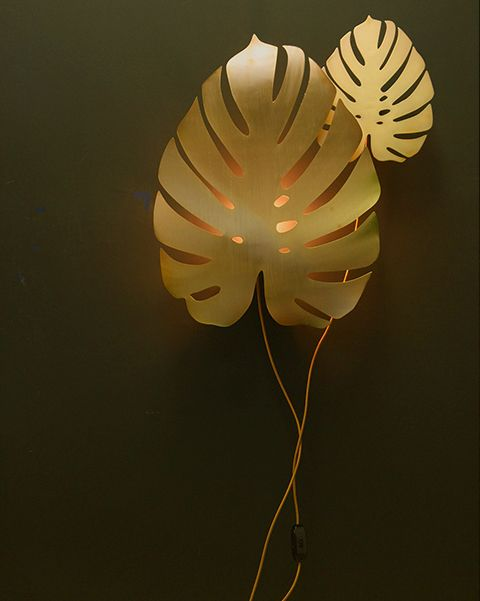 Do you love gold? Do you love plants? We're a little bit biased but we think you'll love our GOLD Cheese plant wall light. Add a little luxe drama to your home.
