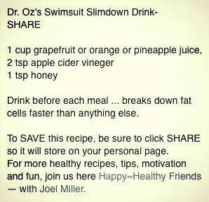 Dr. Oz slimdown drink