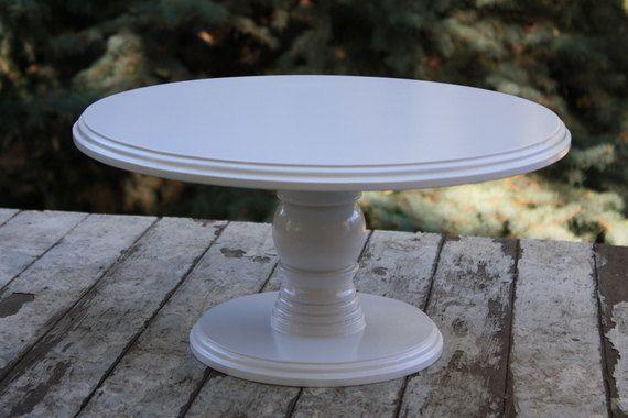 Cake Stand 16 Inch Round Wood Or Dessert Pedestal In