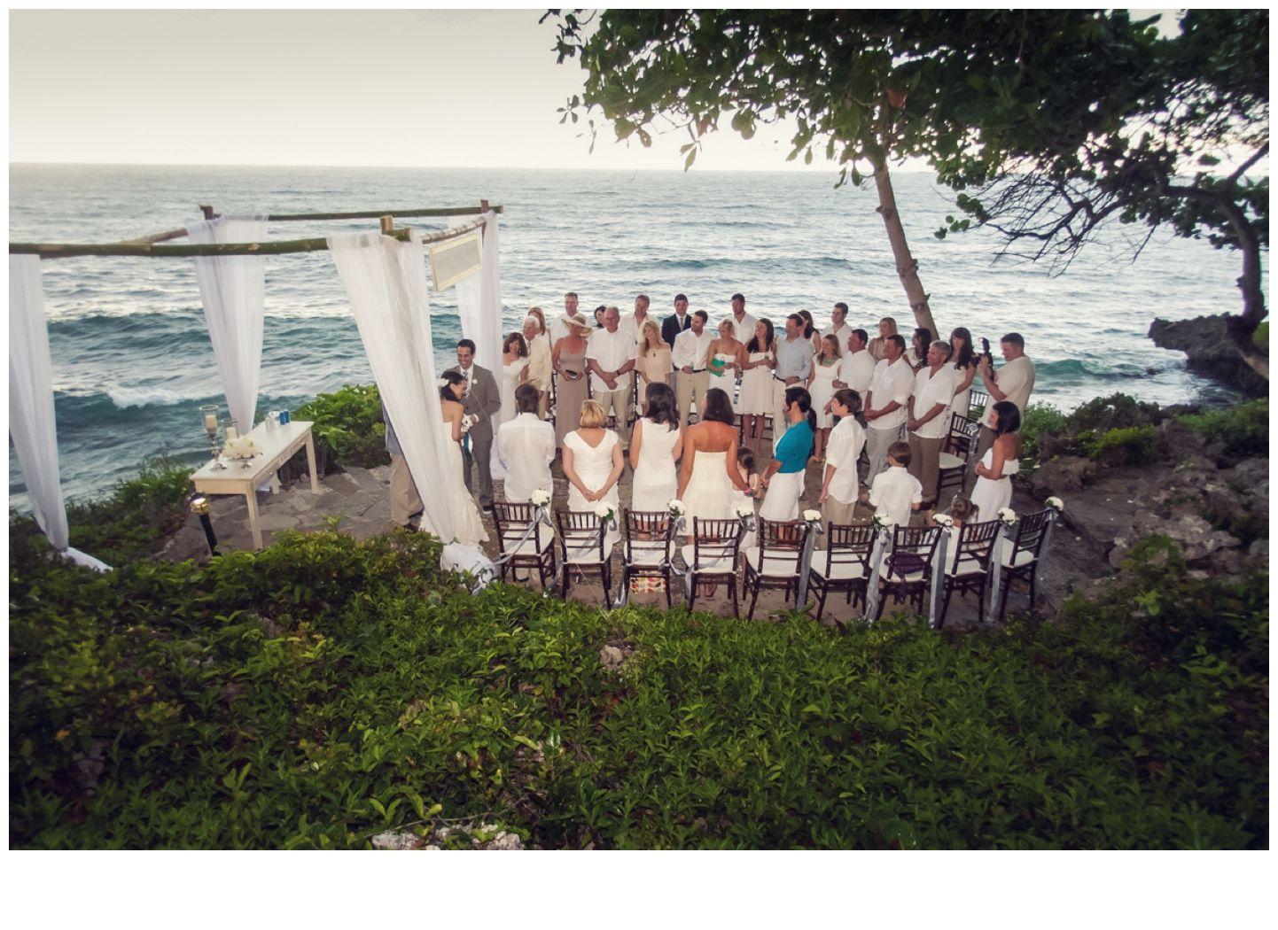 A Cliff Side Shoreline Wedding Ceremony During Small Destination In Carbarete Dominican