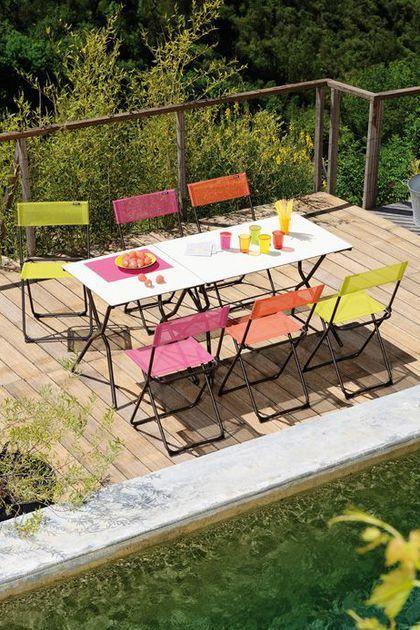 Meuble petite terrasse, balcon : fauteuil, chaise et table d ...