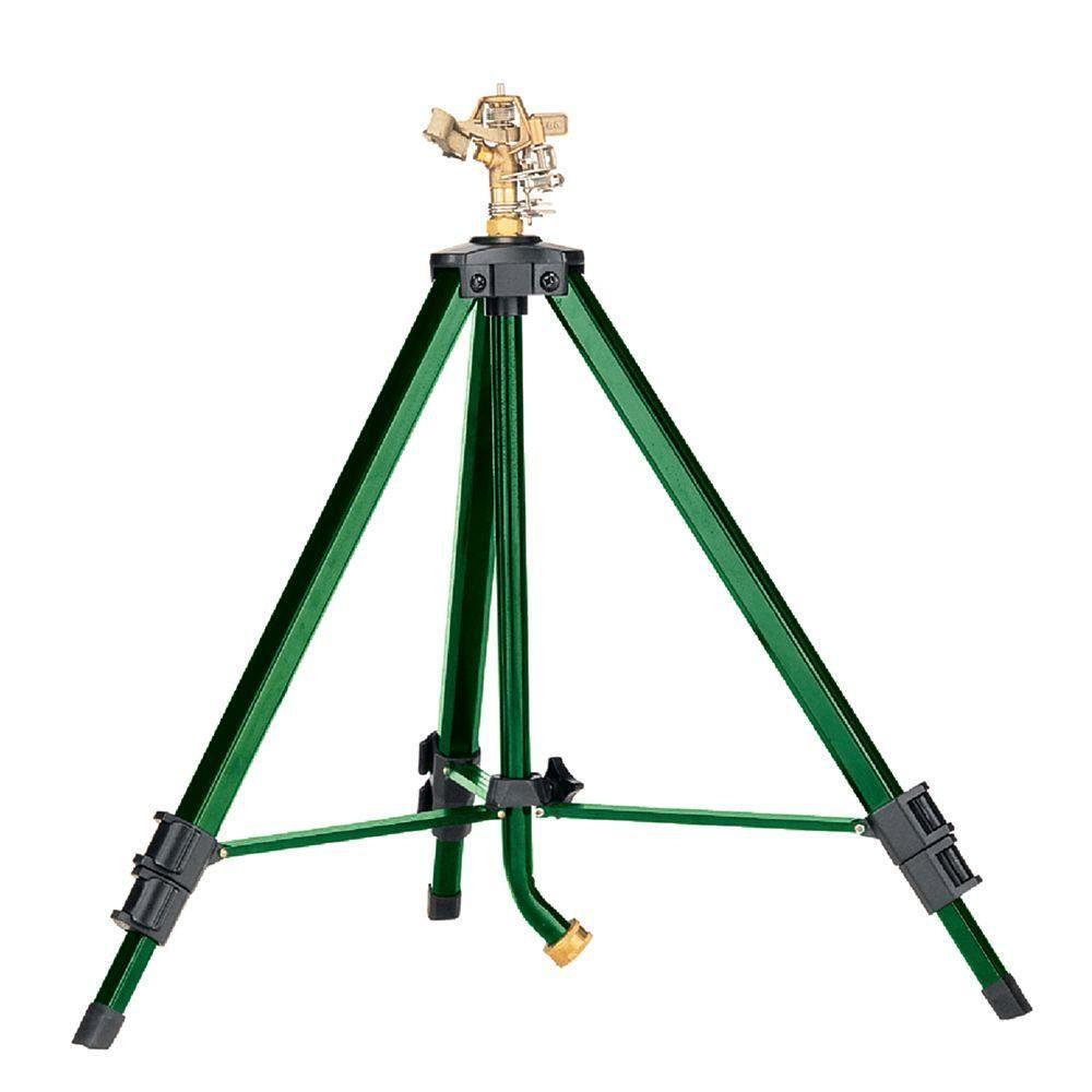 80 sq. ft. Brass Impact Sprinkler58308D Tripod