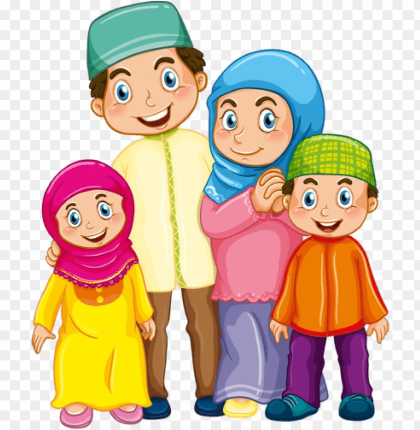 Family Clipart Family Vector Muslim Family Muslim Islamic Family Png Image With Transparent Background Png Free Png Images Family Cartoon Muslim Kids Family Clipart