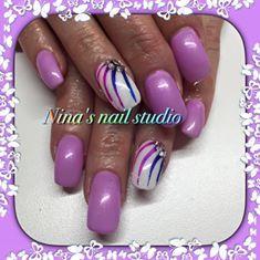 Nina Sponiarova uses #Lecenté Neon Powders for this great look #nails #nailart #lovelecente