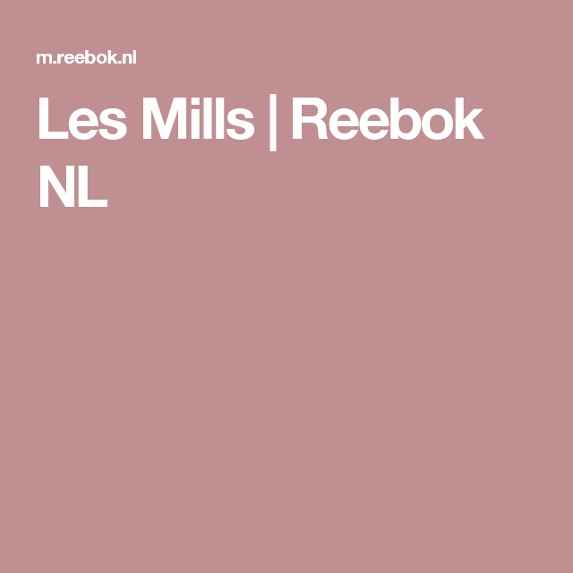 Les Mills | Reebok NL
