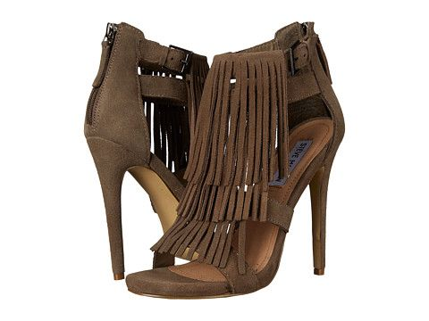 Steve Madden Babbz Taupe Suede - 6pm.com