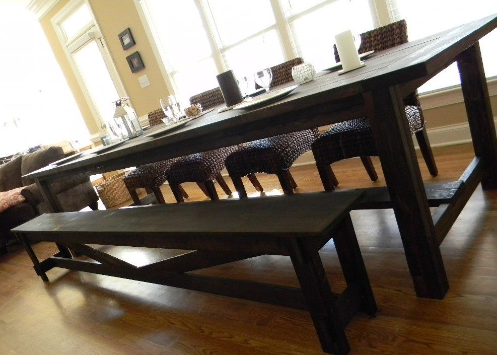 Extra Long Farmhouse Dining Table 1 925 00 Via Etsy Dinning