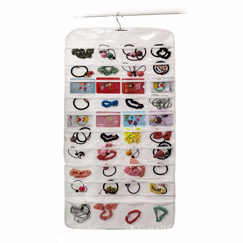 50pcs New Arrival Double Sided 72 Pocket Hanging Jewelry Organizer