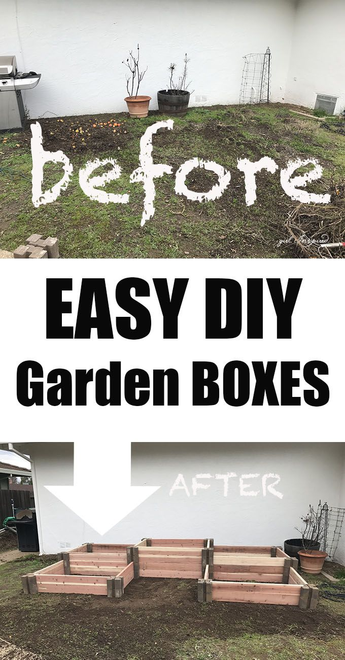 Fast and easy diy raised garden boxes future gardens pinterest