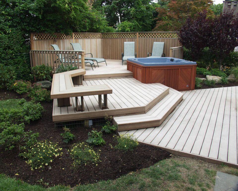 Composite Decking Building A Deck Backyard Deck Garden
