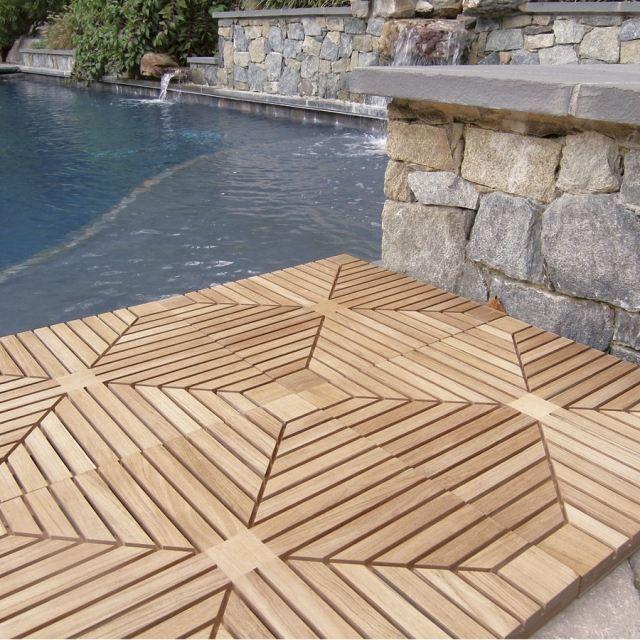 teck lame terrasse bois formes originales lame de terrasse