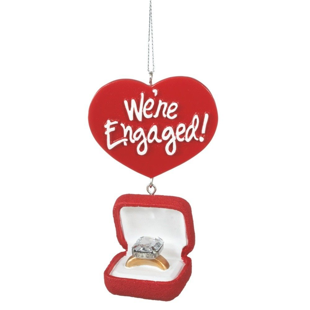 Engagement ring box christmas ornament - Engagement Ring Box Ornament