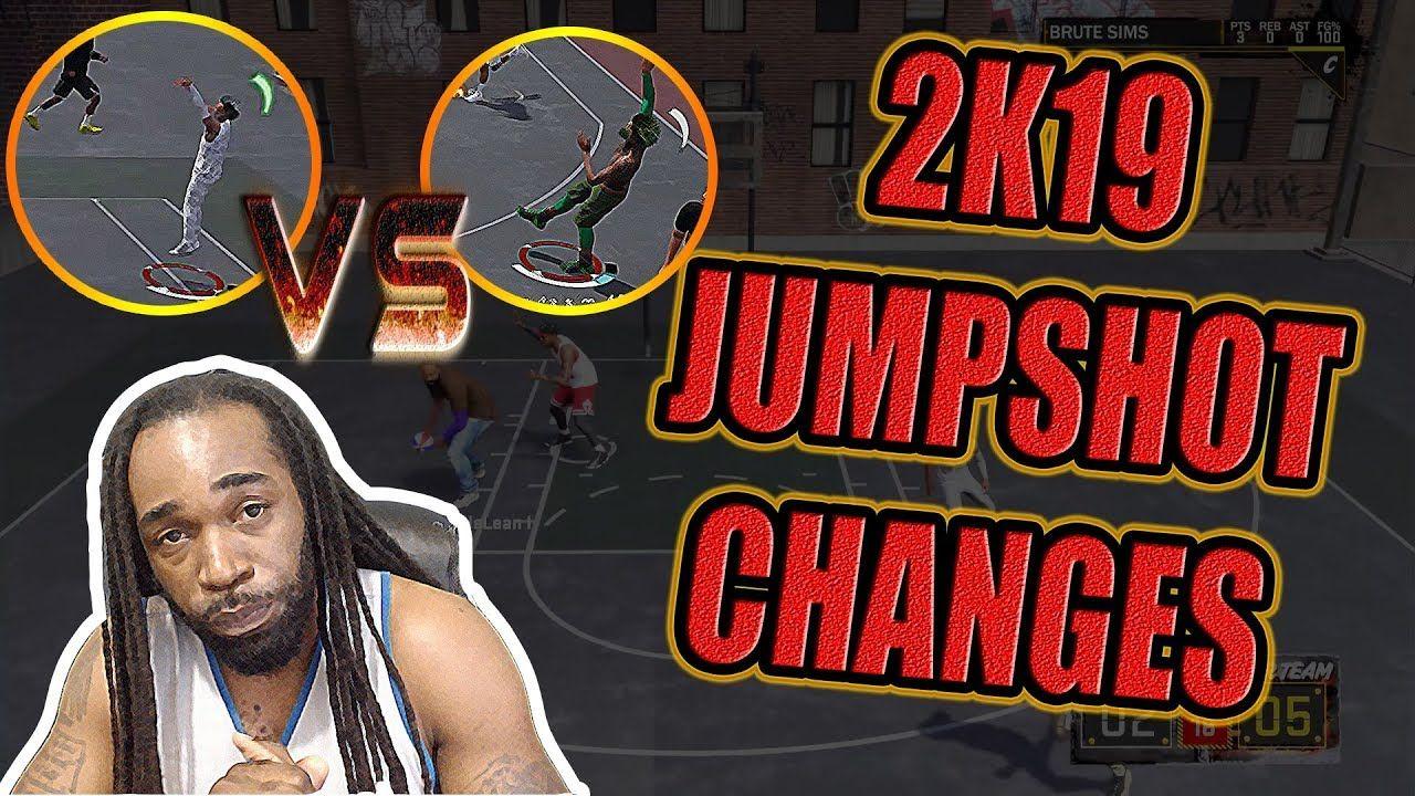 JUMPSHOT CHANGES IN NBA 2K19 | Gaming | Nba, Change, Movie