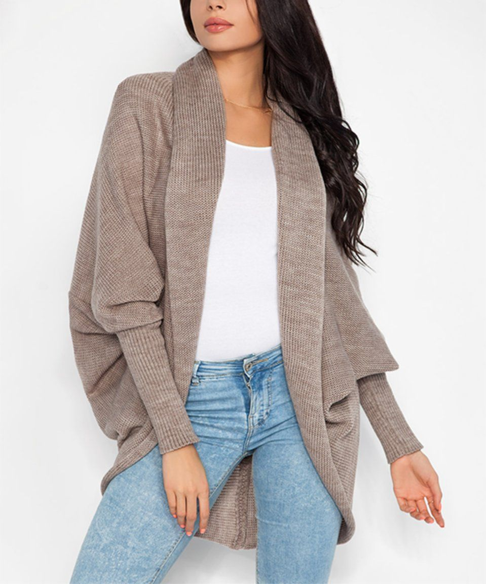 Take a look at this Latte Open Cocoon Cardigan today! | Cute ...