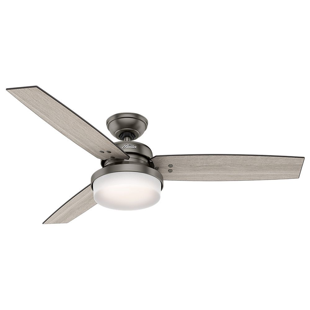 Hunter Morelli 52 Led Brushed Nickel Ceiling Fan At Menards: Hunter 52 Inch Flush Mount Ceiling Fans